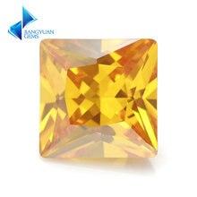 Размер 15x15 12x12mm квадратная форма Принцесса cut 5a Золотой