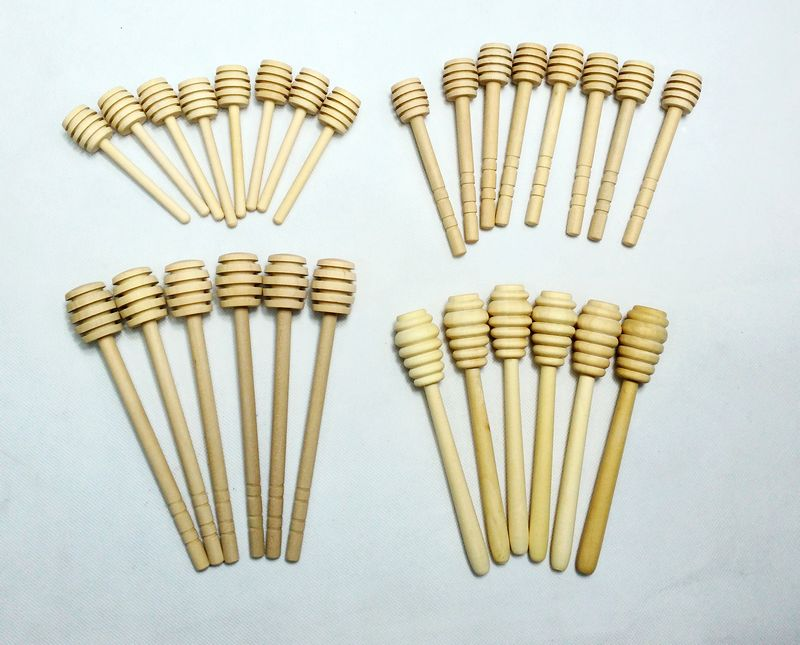 500pcs lot Wooden Honey Stick Honey Dipper Spoon Honey Stirring Bar Rod