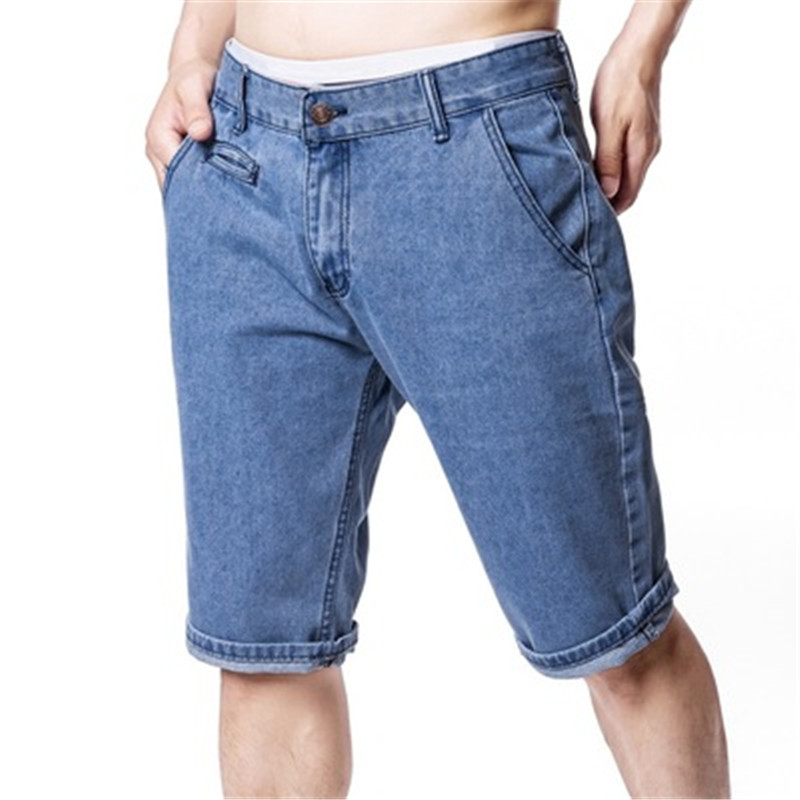 Summer 2019 New Men's Stretch Short Jeans Fashion Casual Slim Fit High Quality Elastic Denim Shorts Male Brand Clothes