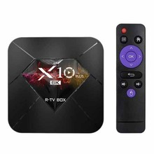 R-Kotak TV X10 Plus Android 9.0 Smart TV Box Allwinner H6 UHD 4K Media Player 6K gambar Decoding 4 GB/32 GB 2.4G Wifi 100M Lan Kami(China)