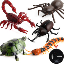 RC Mainan lucu Alat Kawalan Jauh Mini Fun Beetle Spider Slug Turtle Lizard Toy Serangga Robot Inframerah Fluorescent Novelty Toys