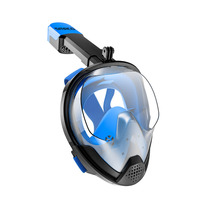 Snorkel Mask Full face wide view Panoramic Anti Fog Anti Leak Foldable Storage Snorkel Set With GoPro Mountfor Adults Youth Kid