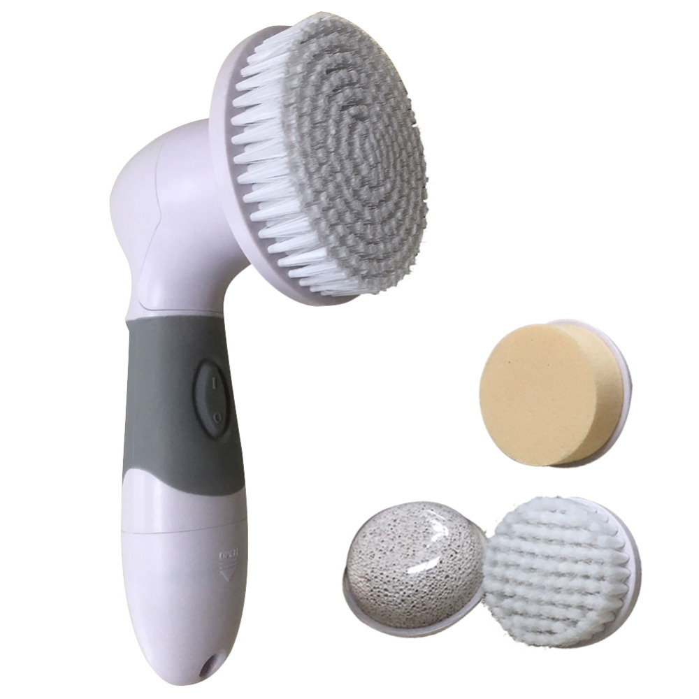 4 in 1 Electric Facial Cleanser Brush Massage Waterproof Blackhead Removal Deep Cleaning Pore Cleaner Face Body Exfoliator Scrub
