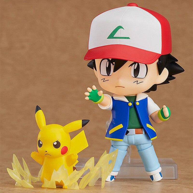 Pokemon Nendoroid 800 Satoshi & Pikachu Cute BJD Figure Model Toys