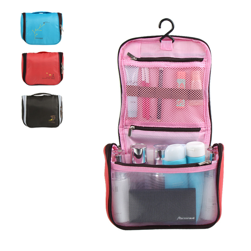 Hot sale cartoon bird portable luggage storage bag makeup organizer toiletry travel stuff collection waterproof washing pouch