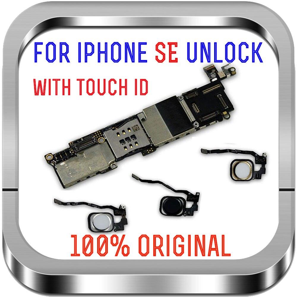 Оригинальная разблокированная материнская плата для iPhone SE, основная Логическая плата для iPhone SE с/без сенсорного ID с тестом IOS Антенны для мобильных телефонов      АлиЭкспресс