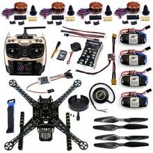 DIY FPV Drone S600 4-Axle Frame Kit Pix 2.4.8 Flight Control AT9S Transimitter GPS7M 40A ESC with 700KV Motor XT60 Plug F19457-B