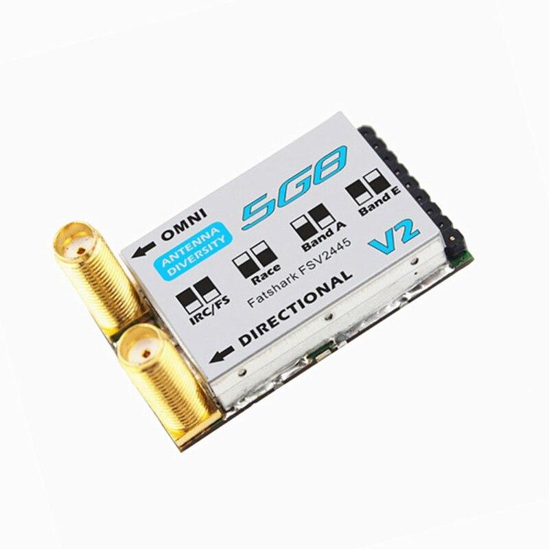 (In Stock) New Arrival Fatshark FSV2445 V2 32CH 5.8G Diversity Receiver Race Band for Dominator V1/V2/V3 HD Attitude V3