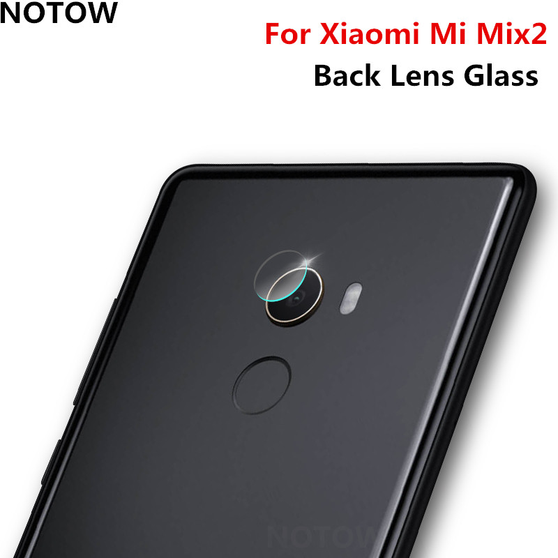 NOTOW flexible Rear Transparent Back Camera Lens Tempered Glass Film Protector Case For Xiaomi Mi Mix2