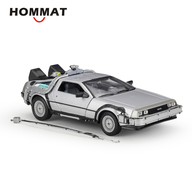HOMMAT Simulation Welly 1 24 Scale DeLorean DMC 12 Back to the Future 1 Alloy Model