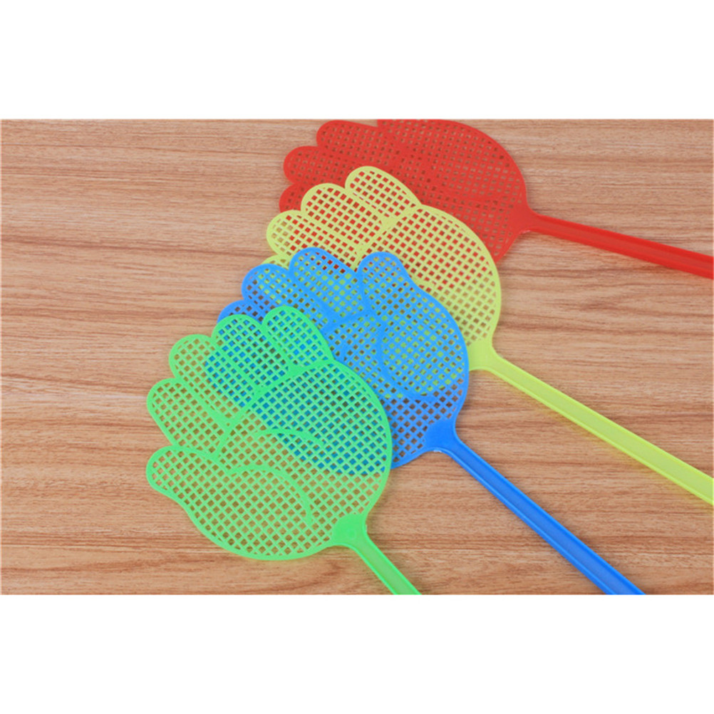 1PCS Plastic Pest Control Mosquito Bug Hand Pattern Fly Swatter Flyswatter Killer Tools Pest Reject Insect Swatters