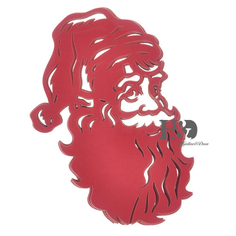 120PCS Red Laser Cutting Christmas Santa Claus Paper Place Card Wine ...