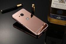 For Nokia Lumia 550 N550 Microsoft Lumia 550 Case Luxury Mirror Case Metal Cover For Lumia 550 Phone Bags Coque Capa