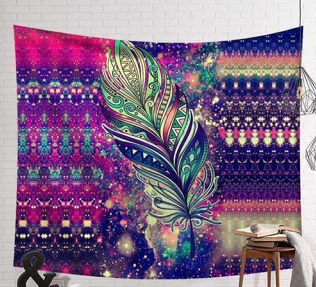 CAMMITEVER インドタペストリー壁掛けボヘミアンビーチマットポリエステル薄い毛布ヨガショールマット毛布美人