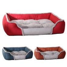 Pet köpek yatağı Büyük Köpekler Için Yıkanabilir Yavru Pet kedi yatakları Paspaslar Su Geçirmez Köpek Evi Kulübesi Sonbahar/Kış sıcak Yumuşak Köpek sepetleri Yuva