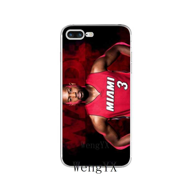 3429d31f4 ... basketball Dwyane Wade NO.3 Slim silicone TPU Soft phone case For iPhone  X 8 ...