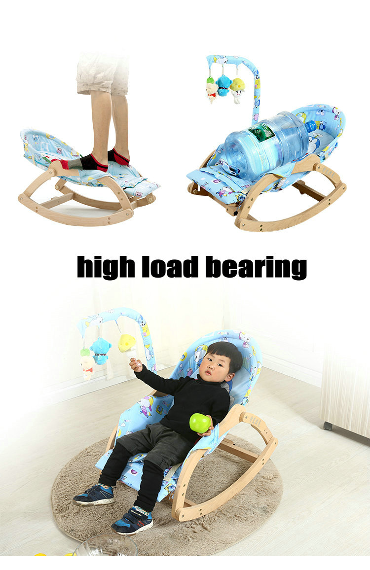 HTB1BZHfXfvsK1RjSspdq6AZepXas Beech Wood Baby Rocking Chair with Rotating Toy Rack, Foldable 5 Grade Adjust Baby Cradle, Portable Rocking Chair