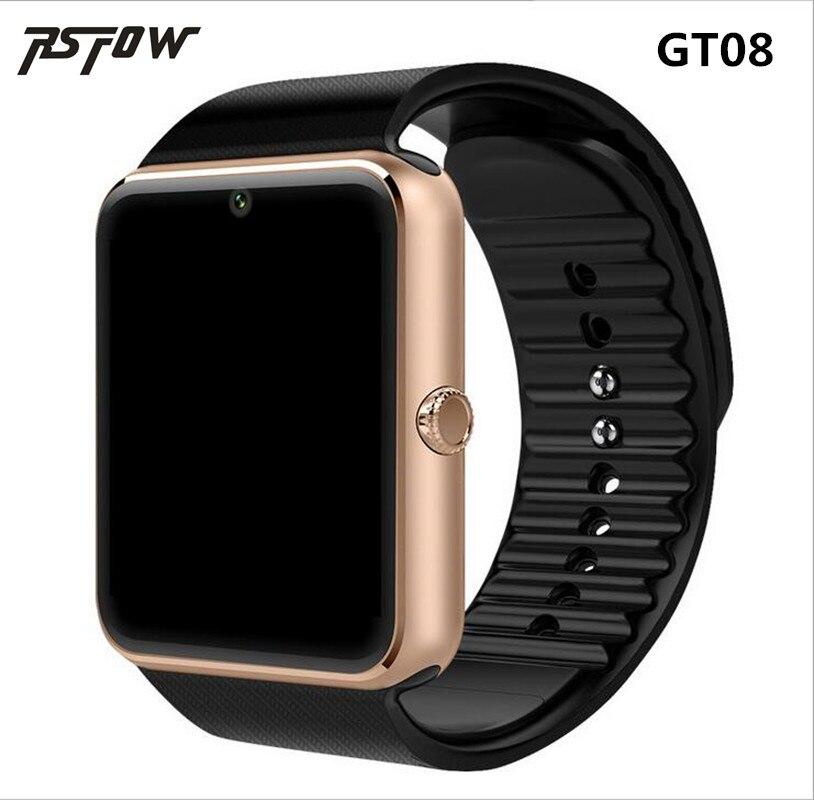 RsFow GT08 Smart Watch para Apple reloj hombres mujeres reloj Android Smart Electronics Smartwatch con cámara SIM TF tarjeta PK y1