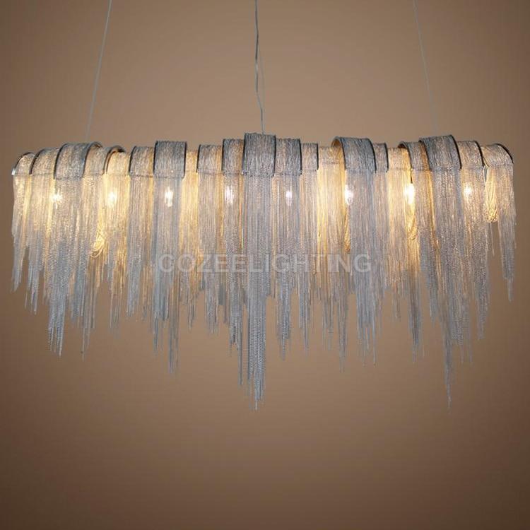 Antik luksus lysekrone belysning aluminium kæde lysekroner hængende - Indendørs belysning - Foto 1