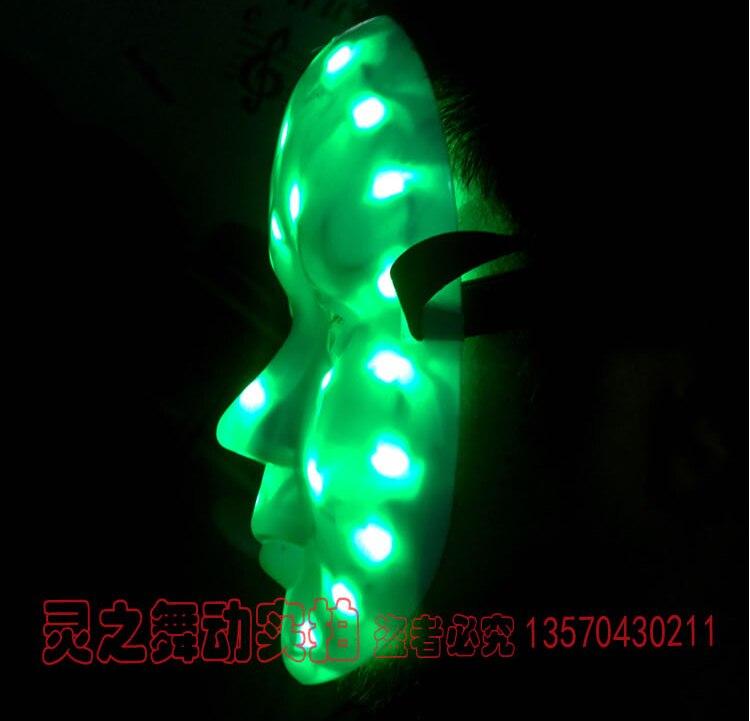Maschera di illuminazione del LED di trasporto libero per le maschere - Per vacanze e feste - Fotografia 2