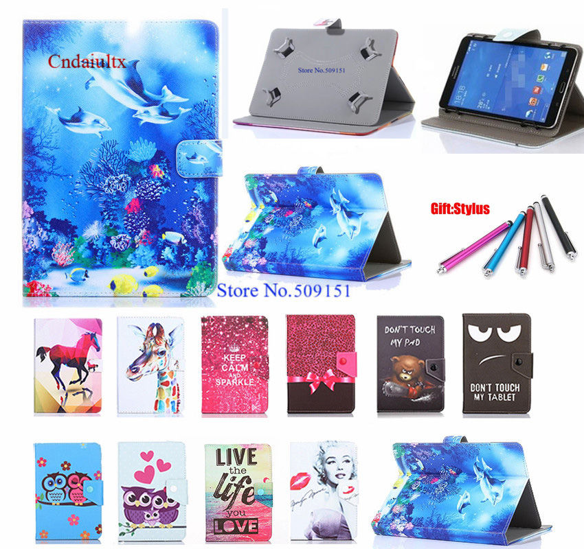 Universal Tablet case PU Leather Stand cases For Ginzzu GT-W153 7.0 inch Android Cover Free Pen(China)