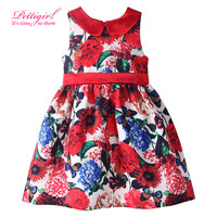 New Fashion Floral Princess Costume Dress Girls Dresses  Free Shipping Retail  Kids Clothes