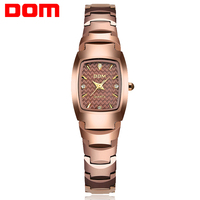 DOM Mody Kobiet Zegarki Wolframu Stali Wodoodporny zegarek Kwarcowy Zegarek Kobiety Luksusowej Marki feminino Panie darmowa wysyłka W-327