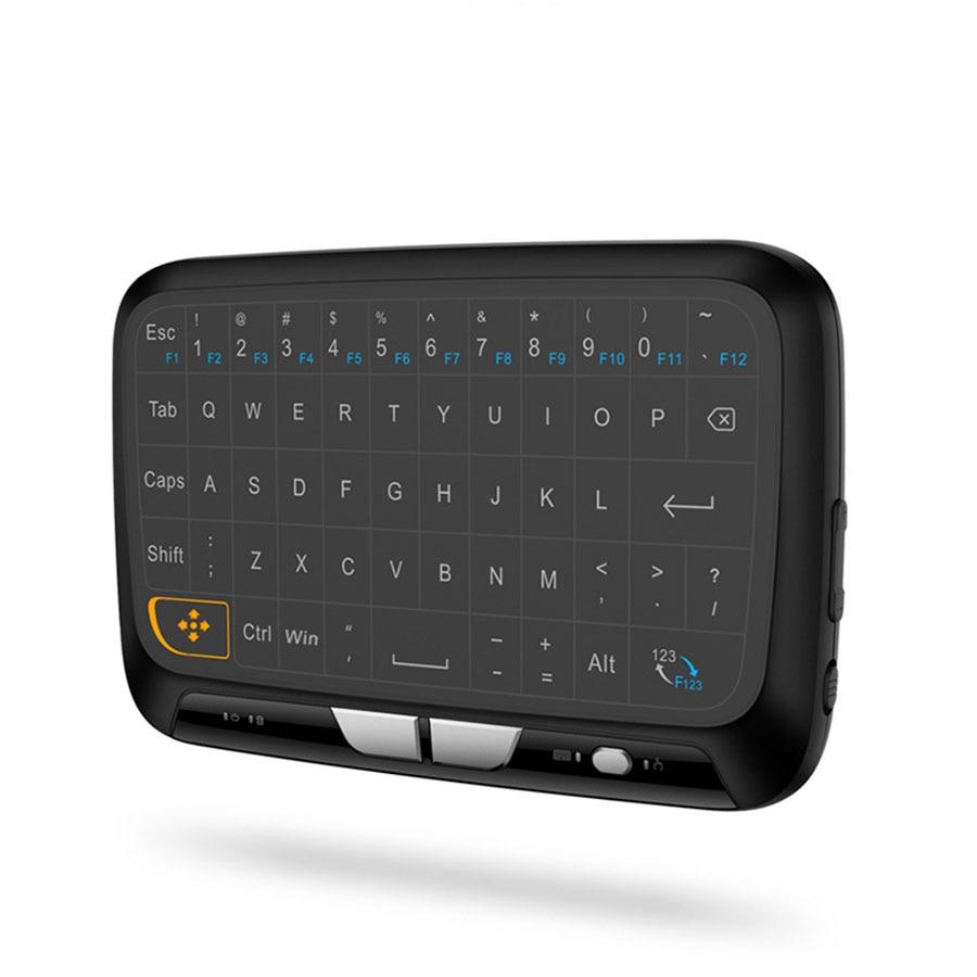 FASTDISK 2.4 GHz sans fil Mini clavier plein Touchpad rétro-éclairage clavier grande tablette tactile télécommande pour Smart Android TV Box