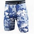 Novos 2016 homens verão camuflagem do exército shorts de compressão calças justas shorts homens spandex quick dry shorts desgaste vansydical