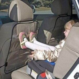 Image 2 - مقعد السيارة الغطاء الخلفي حامي للأطفال الأطفال الطفل ركلة حصيرة من الطين الأوساخ نظيفة مقعد السيارة يغطي السيارات الركل حصيرة