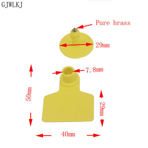 Image 3 - Pig ear mark copper head no word earring pig equipment animal identification card animal supplies 100pcs