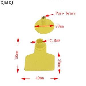 Image 3 - Varken oor mark koperen hoofd geen woord oorbel varken apparatuur dier identificatiekaart dier levert 100 stks