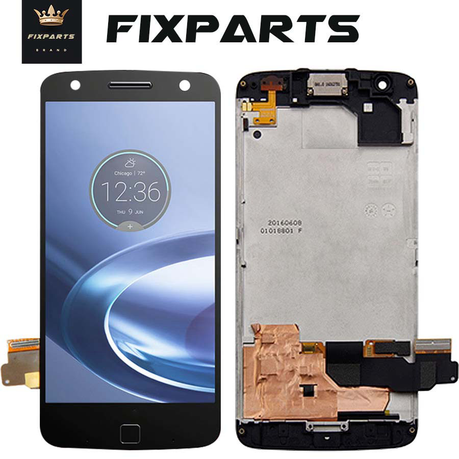 100 Test For Motorola Moto Z Force Droid LCD XT1650 02 Display LCD Screen Touch Digitizer