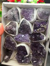 680-700g natural quartz crystal beautiful purple cluster specimen wedding decoration