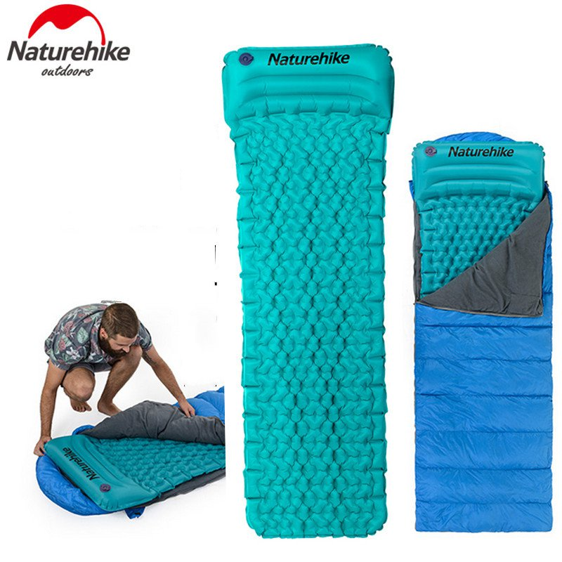 Naturehike C&ing Sleeping Pad with Pillow Tent Mat Outdoor Mattress for Envelope Sleeping Bag-in C&ing Mat from Sports u0026 Entertainment on Aliexpress.com ...  sc 1 st  AliExpress.com & Naturehike Camping Sleeping Pad with Pillow Tent Mat Outdoor ...