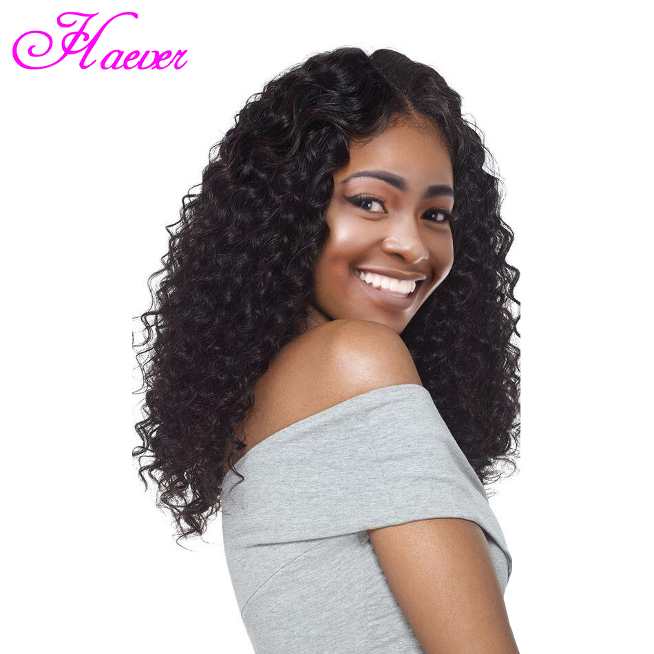 Deep Wave Hair Extension Wigs Malaysia Deep Wave Lace Frontal Wig 4x4 & 13x4 Lace Closure 100% Human Hair Lace Front Wigs(China)