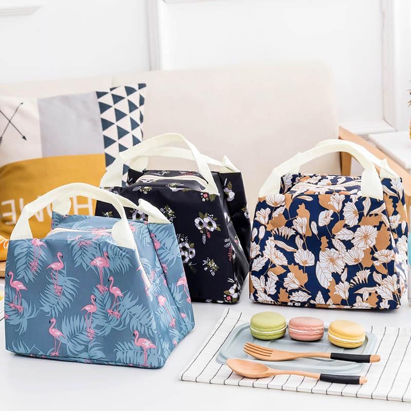 New Arrivel ! Flamingo Lunch Bag Women Kids Food Picnic Men Tote Thermal Bag Waterproof Oxford Student Beach Cooler Bag