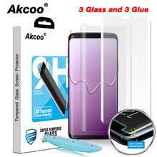 Akcoo S8 Screen Protector with Liquid UV Full Glue Glass Protector for Samsung Galaxy S9 S8