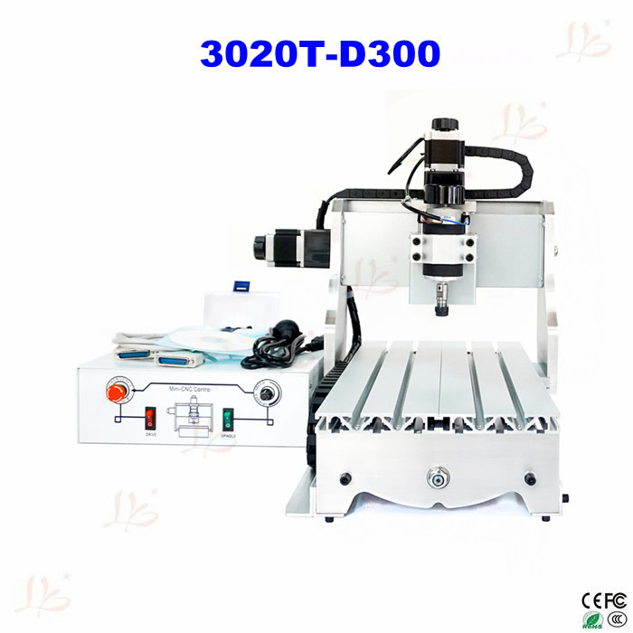 Hot sale! CNC router machine 3020 T-D300 cnc milling machine for wood PCB plastic carving and drilling cnc 5axis a aixs rotary axis t chuck type for cnc router cnc milling machine best quality