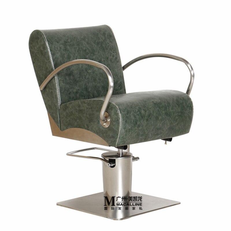 Cabeleireiro dedicado cadeira de cabeleireiro. A cadeira de barbeiro