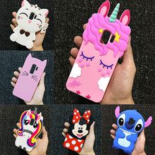 3D Cartoon Case Soft Silicone Cases Cover for Samsung S9 S8 Plus S6 S7 Edge A3 A5 A6 A7 A8 J3 J4 J5 J6 J7 J8 2016 2017 2018 Pro(China)