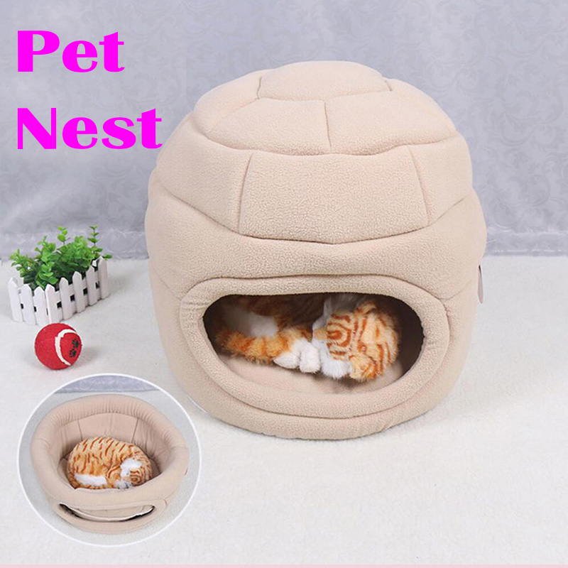 Dual Use Foldable Pet Cat Cat Dog Bed House Warm Breathable Soft 2 Color Pets Nest Dog Sofa Cat Super Warm Kennel Beds Nests