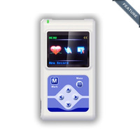 TLC5000 12 Channel Hand held ECG/EKG Holter Monitoring Recorder System