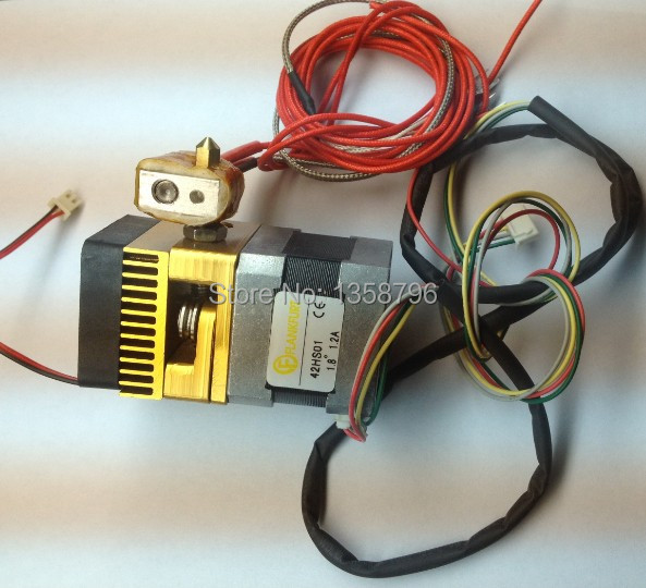 3D Printer Print Head 12V Thermocouple 0.4mm Single Nozzles Extruder For 1.75mm Filament Reprap Makerbot + Extra Throat Tube paint tube 3d print hoodie