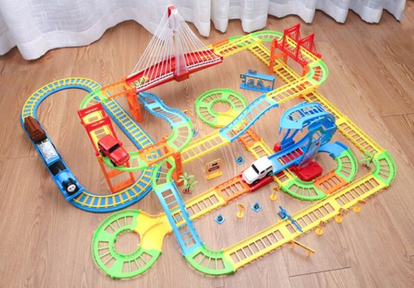 thomas and friends cars cars toys magic track thomas train Multi-storey electric track racing kids gift 12 kinds of assembly/set