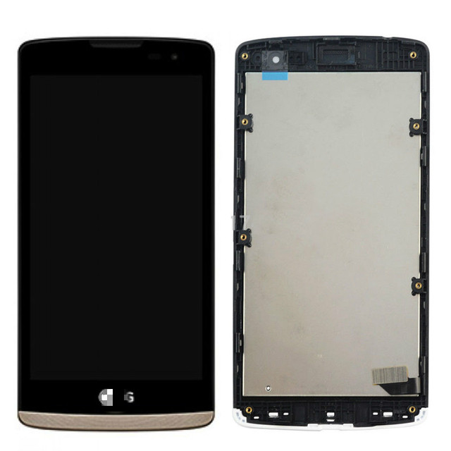 Gold color For LG Leon H340N Leon LTE H320 H324 H340N LCD screen Display+Touch Digitizer with frame original