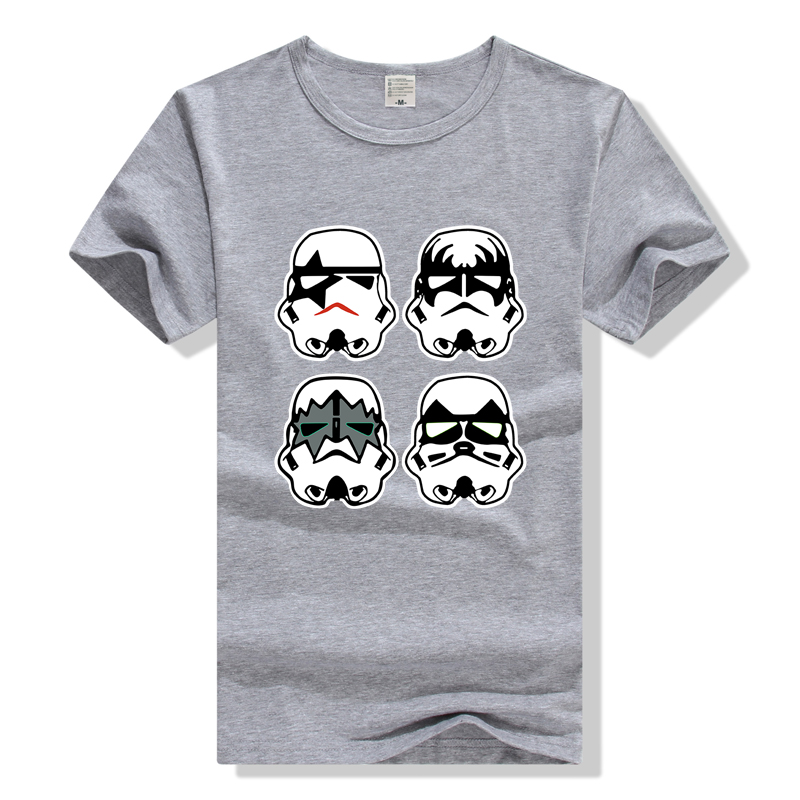 8affa4466 Mens T Shirt With Star Wars Stormtrooper Funny Parody Star Wars Kiss Rock  Band t shirt Summer Cotton Tee black White Size S 2XL-in T-Shirts from Men's  ...