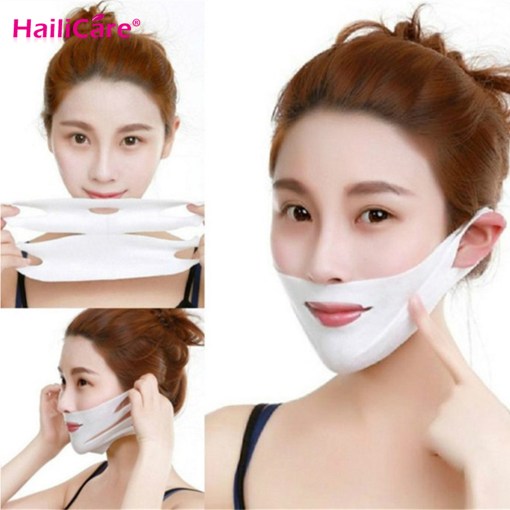 4D V Face Mask Chin Cheek Lift Thin Face-Lifting Mask Facial Slimming Ear Hanging Hydrogel Neck Slimmer Beauty Skin Care Tools