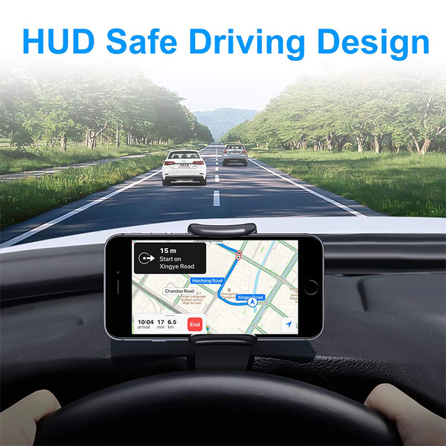 Car Phone Holder Universal Car Dashboard Cell Phone GPS Mount Holder Stand Anti-skid HUD Design Phone Cradle Clip Car-styling 5