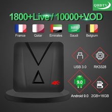 1 Year QHDTV IP TV MX10 mini French Qatar Netherlands IPTV Subscription 4K TV Box Android 9.0 Belgium Arabic Morocco IPTV France все цены